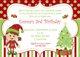 Designs For Birthday Invitation Cards Wonderful Christmas Birthday Party Invitations Theruntime Com