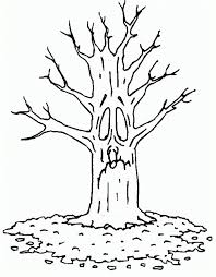 picture of trees to color coloring home
