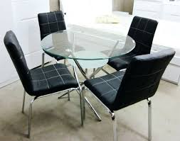 dining table small round black glass dining table and chairs