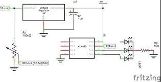 car voltage meter analog version with
