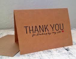3 bridesmaids thank you cards set of 3 customized thank you