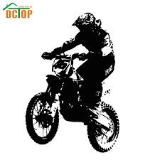 online get cheap wall dirt bike aliexpress com alibaba group dirt bike rider motorcycle player silhouette wall sticker for kids child bike vinyl home decor decals