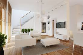 Living Room With Stairs by Contemporar Living Room Plants Interior Design Ideas
