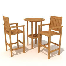 High Top Bar Stools High Wooden Bar Stools And High Top Table 3d Model
