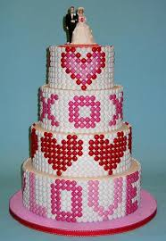 a wedding cake photo of the day m m candy wedding cake serious eats
