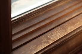 How To Lighten Stained Wood by Trim How To Refinish Indoor Window Molding Wood Home