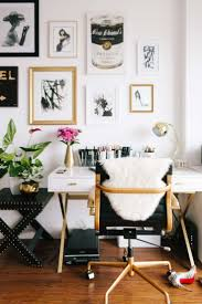25 best gold home decor ideas on pinterest gold accents gold gallery wall white and gold desk inspiration office interior design office decor ideas creative office space dream workspace office