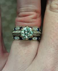 gemstone wedding rings show me your diamond and gemstone wedding bands weddingbee