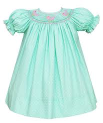 petit bebe by anavini baby toddler mint green white dots