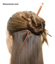 hair sticks half updo with asian hair sticks bun hairstyles