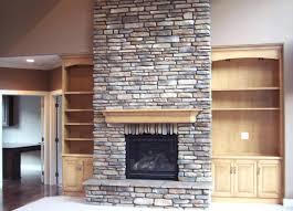 built in bookshelves fireplace plans stone massive custom