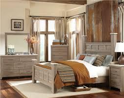 standard furniture stonehill poster bedroom set in weathered oak