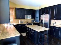 Dark Cabinets Light Countertops White Kitchens With Light Granite Nice Home Design