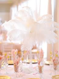 Table Decorations With Feathers Feather Wedding Centerpieces