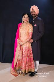 classic red u0026 gold sikh wedding chandigarh india