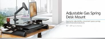 adjustable gas spring desk mount for 15 34 in monitors monoprice com