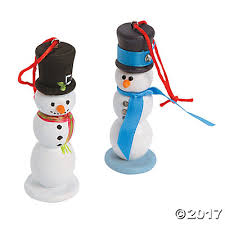 unfinished wood snowman ornaments