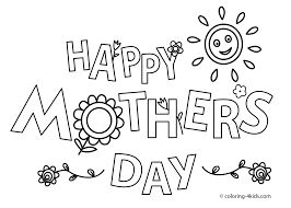 happy mother u0027s day coloring pages for kids printable free