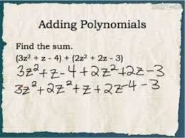 addition and subtraction of polynomials worksheet doc scientific