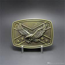 New Rebel Flag Men Belt Buckle New Vintage Bronze Plated Confederate Rebel Flag