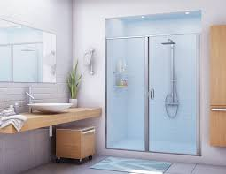 Modern Bathroom Door Bathroom Modern Shower Half Glass Door Design By Alumax For
