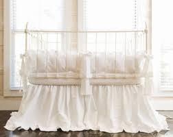 White Ruffle Crib Bedding Ruffle Crib Bedding Etsy