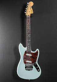 squier vintage modified mustang electric guitar sonic blue reverb