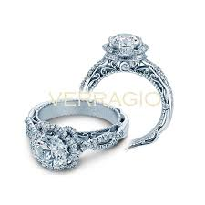 verragio wedding rings verragio venetian flower halo engagement setting jr dunn jewelers