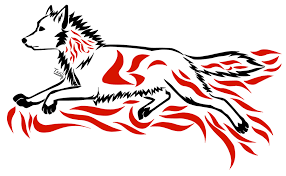 tribal howling wolf by tsukihowl on clipart library clip library