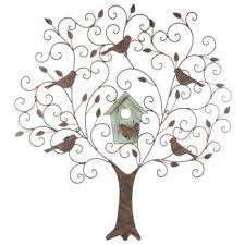 large metal wood tree wall decor with birds hobby lobby 485771