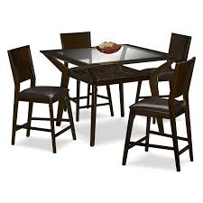 How Tall Is A Dining Room Table by Mystic Counter Height Table And 4 Chairs Merlot And Chocolate