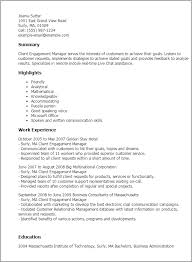 Business Consultant Sample Resume by Professional Client Engagement Manager Templates To Showcase Your