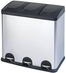 modern kitchen bins amazon com step n u0027 sort 16 gallon 60l 3 compartment