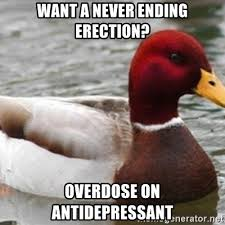 want a never ending erection overdose on antidepressant bad