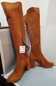 s suede boots size 9 zara basic s brown the knee suede boots size 9 ebay