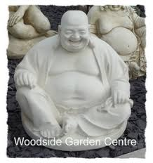 medium laughing buddha garden ornament woodside garden centre