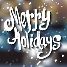 lettered merry holidays message lettered and
