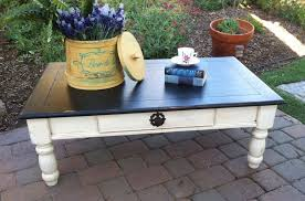 White Painted Coffee Table by Coffee Table In Antique White And Lamp Black Milk Paint General