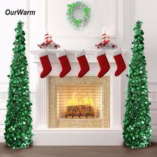 pop up tree ourwarm pop up christmas tree artificial tinsel christmas trees