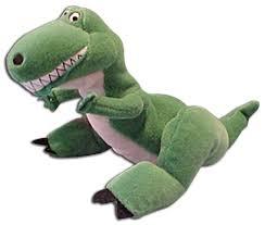 rex toy story dinosaur disney store bean bag plush toy