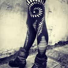 eye pattern tights 40 diy fun leggings designs tutorials