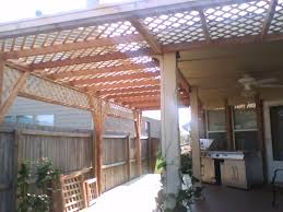 Lattice Pergola Roof by 6b Cedar Lattice Arbor And Pressure Treated Pine Deck Fences