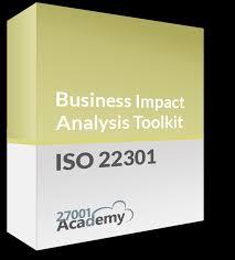 business impact analysis methodology iso 22301 templates