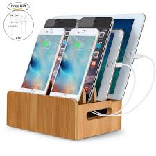 amazon com firstbuy real bamboo charging station electronics