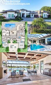 house plans with outdoor living plan 86020bw florida house with open layout architectural plans