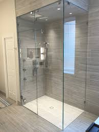 Smart Glass Shower Door Bathroom Starphire Glass Shower Door With Smart Tile Wall Also