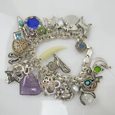 sterling bracelet charms images Vintage sterling silver charm bracelet massive over loaded chunky jpg