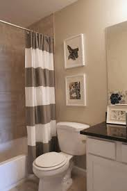 Porcelain Bathtub Paint Monochrome Striped Shower Curtain White Porcelain Toilet White