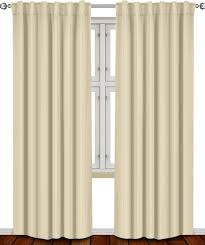 amazon com thermal insulated blackout curtains beige 2 panels