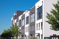 Modern Row Houses - modern row houses in berlin stock photo image 89915769